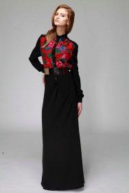 Kırmızı Patchwork Elbise