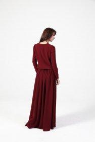 Bordo Keyif Elbise