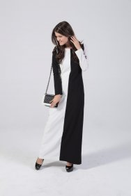 Siyah Beyaz Kendi Elbise
