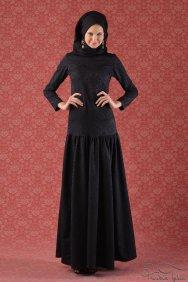 Siyah Trompet Elbise