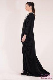 Elizabeth İşlemeli Siyah Elbise
