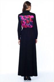 Pembe Patchwork Elbise