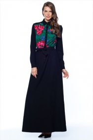 Yeşil Patchwork Elbise