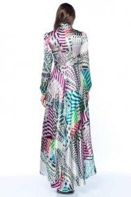 Renkli İpek Elbise