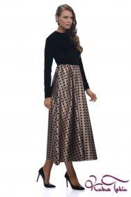 Molly Siyah Puantiyeli Kadife Elbise