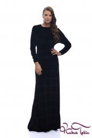 Stella Siyah Kadife Elbise
