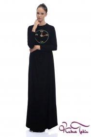 Sindy Saat İşlemeli Siyah Elbise