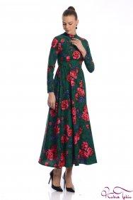 Molly Yeşil Patchwork Elbise
