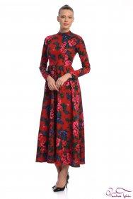 Molly Kırmızı Patchwork Elbise