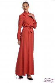 Penelope Kiremit Gömlek Elbise