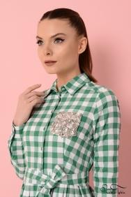 Özge Yeşil Cepli Elbise
