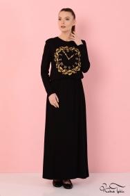 Olivia Saat Taş İşlemeli Elbise