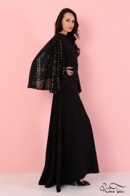 Kuğu Siyah Kol Detaylı Elbise