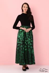 Molly Yeşil Jakar Elbise