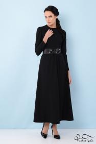 Alina Siyah Taş İşlemeli Elbise