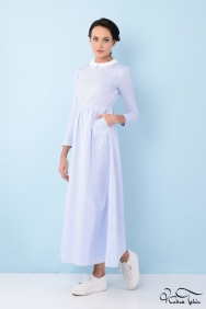 Alina Mavi Bebe Yaka Elbise