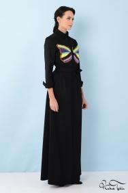 Penelope Kelebek Taş İşlemeli Siyah Elbise