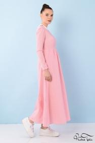 Alina Pembe Bebe Yaka Elbise