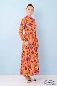 Laura Narçiçeği Patchwork Elbise