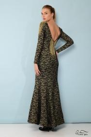 İsabel Sırtı Taşlı Elbise
