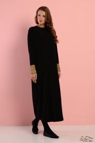 Sindy Altın Kol Detaylı Elbise