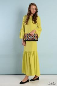 Nevena Fıstık Yeşili Elbise