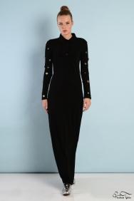 Roos Siyah Kol Detaylı Elbise