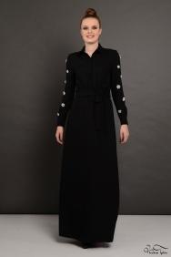 Penelope Siyah Lara Kol Detaylı Elbise