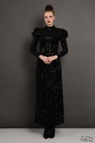 Siyah Payet Elbise