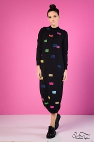 İva Siyah Triko Elbise