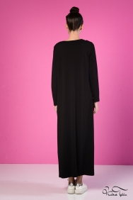 Sindy Siyah Gül Motifli Elbise