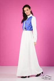 Penelope Beyaz Desenli Elbise