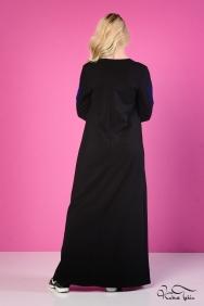 Kupraa Siyah Kalp Elbise
