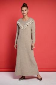 Nolita Vizon İşlemeli Triko Elbise