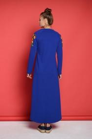 Kupraa Saks Çelik Örme Elbise