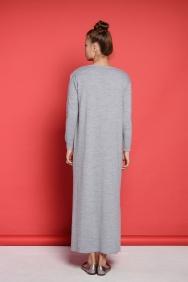 Nolita Gri İşlemeli Elbise