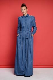 Yasemin Sırt Detaylı Kot Elbise