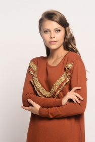Nolita Kiremit Triko Elbise