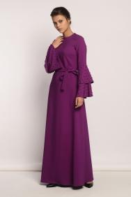 Kuğu Mor Taşlı Elbise