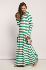 Kupraa Yeşil Çizgili Elbise