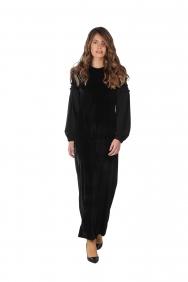 Lip Siyah Kadife Elbise