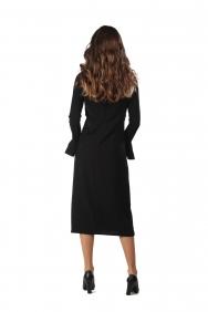 Lip Siyah İşlemeli Elbise
