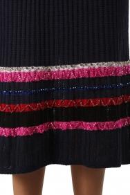 Lacivert Triko Elbise