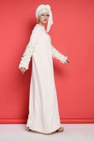 Sindy Ekru Bride Elbise