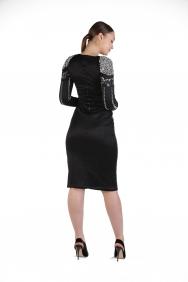 Overdoz İşlemeli Midi Bodycon Elbise