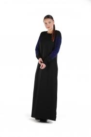 Liz Siyah Kol Baskılı Elbise
