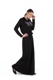 Olivia Kelebek İşlemeli Örme Elbise