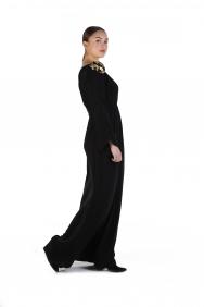 Seçil Siyah Krep Elbise