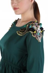 Seçil Petrol Krep Elbise