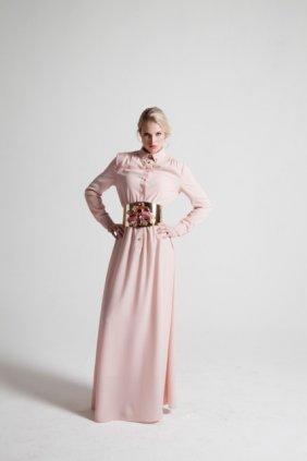 Pudra Gömlek Elbise